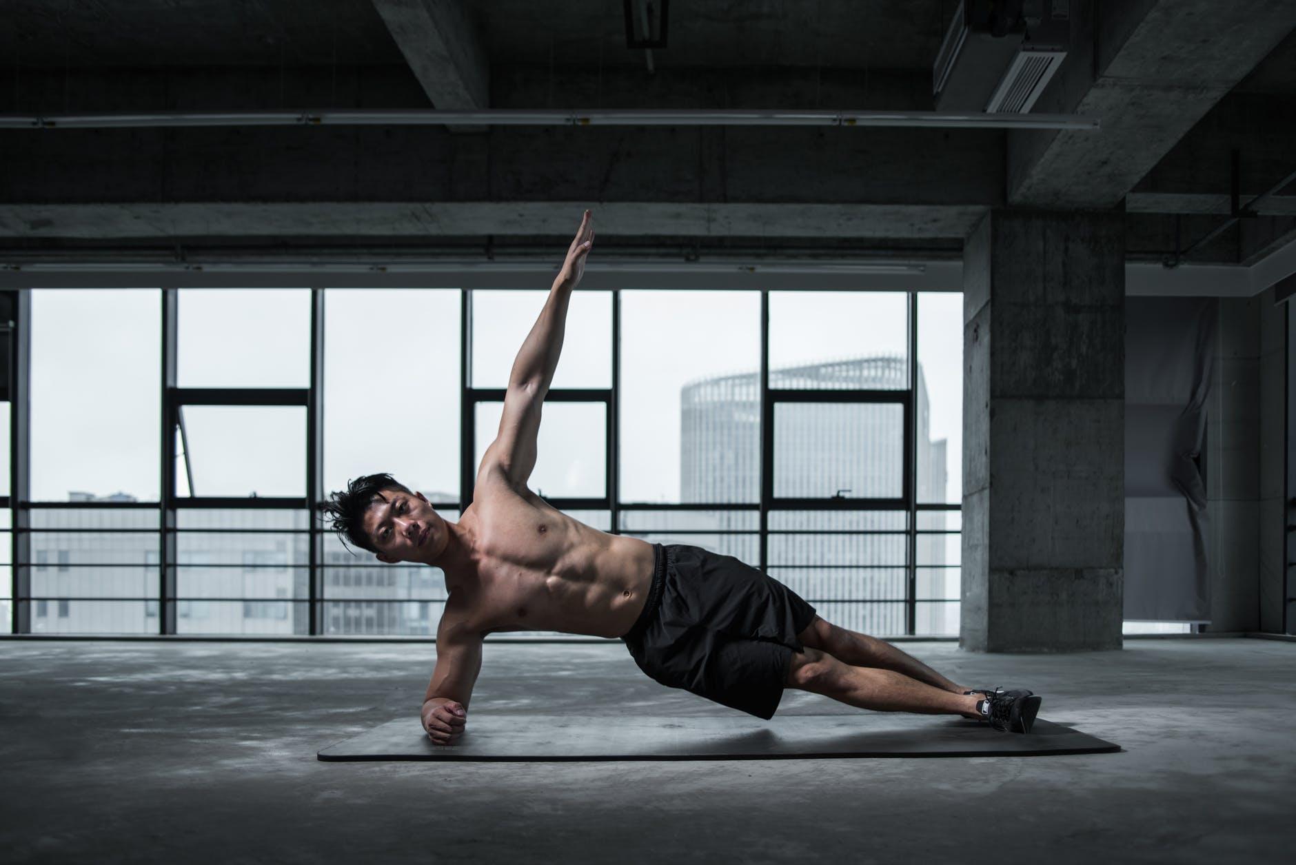 cviky, muž, fitness
